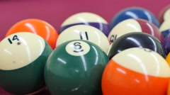 Breaking pool balls on a table 4k Stock Footage