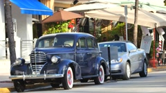 antique car south beach 4k - stock footage