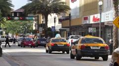 Downtown miami flagler street 4k Stock Footage