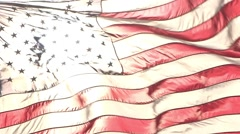 American Flag in the Sun Stock Footage