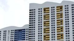 Miami architecture buildingd 4k video Stock Footage