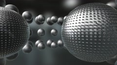 Abstract spheres silver white background Stock Footage