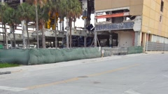 Miami herald building demolition 4k 2 Stock Footage