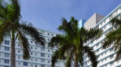 Miami buildings and palms 2 Stock Footage