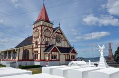 St faith's anglican church in rotorua - new zealand Stock Photos