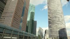 Skyscraper modern architecture skyline in Tokyo,  Japan Stock Footage