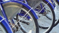 Bike rental station Miami Beach 4k Stock Footage