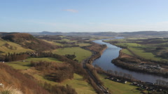 Elevated view of River Tay Scotland Stock Footage