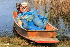 Boat of thai fisherman Stock Photos
