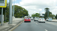 Driving out of Brisbane city TL 4K Stock Footage