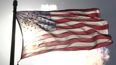 American Flag Glory Stock Footage