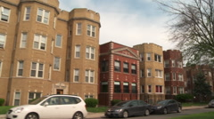 Chicago-apartment buildings3, driving Stock Footage
