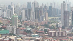 Zoom in of Panama City building in daytime Stock Footage