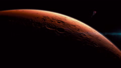 Manned military mission to mars. - stock footage