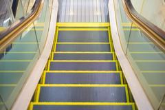An escalator almost to the floor Stock Photos