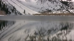 Convict Lake, reflections of winter - stock footage