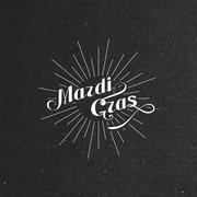 Vector typographical illustration of ornate Mardi Gras label on the black Piirros
