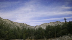 Stock Video Footage of Astrophotography Time Lapse of Stars over Alpine Mountain