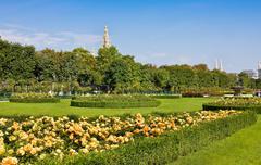 Volksgarten park in Vienna, Austria on sunny day Stock Photos