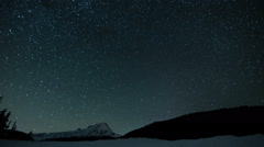 Starry Night Star Trails Time Lapse over Mt. Hood Oregon. - stock footage