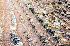 Sedimentary rocks in zumaia named flysch Stock Photos