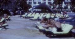 Miami Tourists Hotel Pool Aera 60s 70s USA 16mm Stock Footage