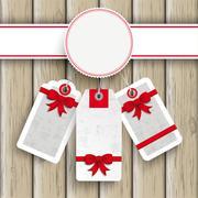 white emblem price stickers ash wood - stock illustration