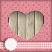 Stock Illustration of heart hole ornaments wood