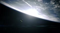 space shuttle orbiting earth. - stock footage
