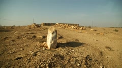 Desert Landscape in Rajasthan Stock Footage