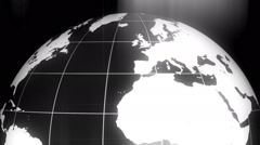Rotating earth globe detailed texture map 11 - stock footage