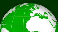 Rotating earth globe detailed texture map 13 - stock footage