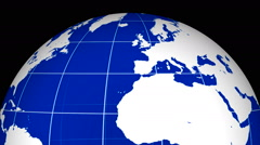 Rotating earth globe detailed texture map 14 Stock Footage