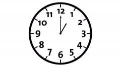 Clock Timelapse, Animation Stock Footage