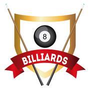billiard tournament design, vector illustration eps10 graphic - stock illustration