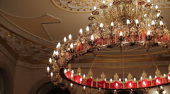 Chandelier in the church Stock Footage