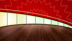 Virtual Entertainment Studio with Red color effects - stock footage