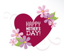 happy mothers day design, vector illustration eps10 graphic - stock illustration