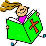 Bible Girl - stock illustration