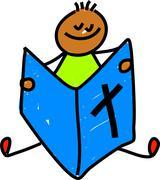 Bible Boy - stock illustration