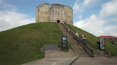 CLIFFORDS TOWER, YORK, NORTH YORKSHIRE Stock Footage