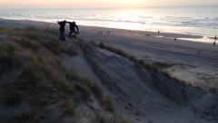 Beach jump Stock Footage