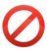 Stock Illustration of prohibitory sign vector illustration