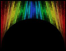 abstract multicolored graphic equalizer vector illustration - stock illustration