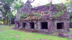 Ancient Ruins Near Angkor Wat In Cambodia, steadicam shot Stock Footage