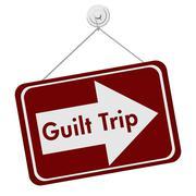 Guilt trip sign Stock Illustration