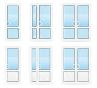 plastic transparent doors vector illustration - stock illustration