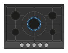 Surface for gas stove vector illustration Stock Illustration