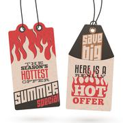 summer sales hang tags - stock illustration
