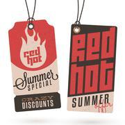 Summer sales hang tags Stock Illustration